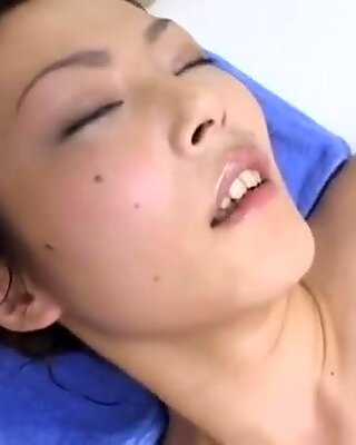 Asian Girl Fucked With toy finger-tickled By two Masseuses While Steam Comming To H