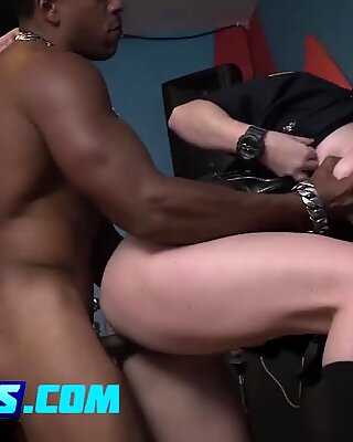 Big boobed MILFs using a black weapon to please them