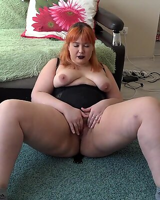 Anal masturbation doggystyle, the rubber dildo releases cum on a big butt bbw.