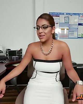 Cole rams horny receptionist in the office