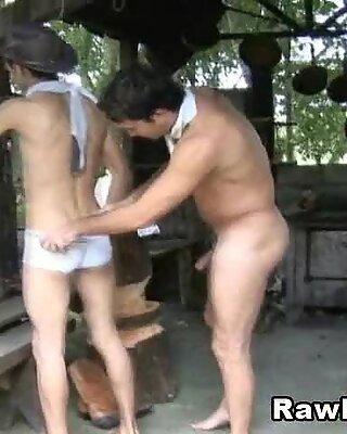 Gay Anal Fucking In The Backyard