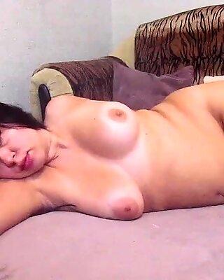 BBW Sensual Masturbate Pussy Dildo and Smokes - Amateur