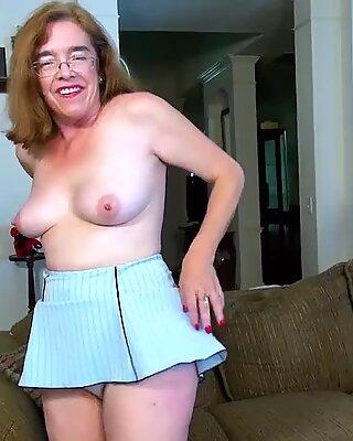 USA wives Old Grandma Carmen Hairy Pussy Fingering