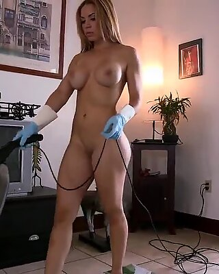 Cleaning in the nude