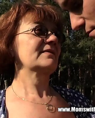 Granny With Huge Ass Gets Stud Hard