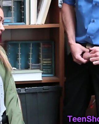 Asian shoplifter sucking