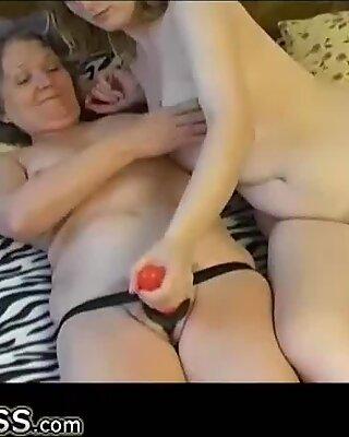 OmaPasS Amateur Lesbian Couple with Strapon